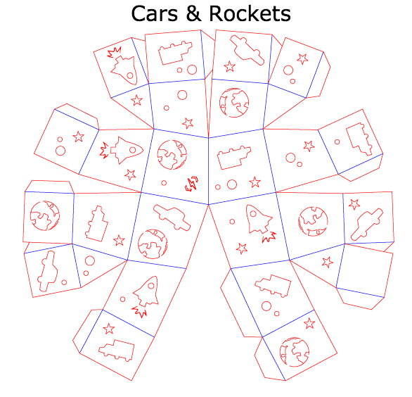 Cars & Rockets Template